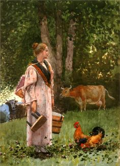 The Milk Maid, 1878 by Winslow Homer