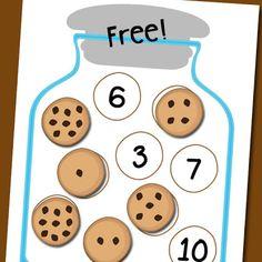 Cookie Jar Number Matching Free Printable