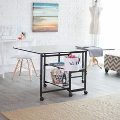 Sullivans Adjustable Home Hobby Table - Crafters, scrapbookers, sewers, and quilters rejoice! The Sullivans Adjustable Home Hobby Table is the perfect addition to your crafting room. This li...
