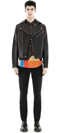 Acne Gibson leather black