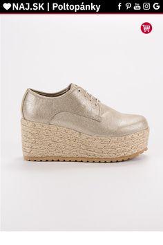 Zlaté poltopánky na platforme Corina Espadrilles, Platform, Shoes, Fashion, Espadrilles Outfit, Moda, Zapatos, Shoes Outlet, Fashion Styles