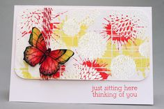 Distress Stain splatter card, by Christine
