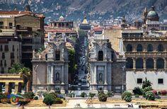 Palermo. Corso Vittorio Emanuele da Porta Felice
