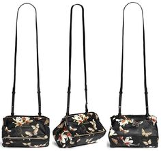 Givenchy 'Pandora' Mini Magnolia and Butterfly Print Leather Bag