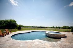 Who else would love to spend there weekends at this pool on the prairie? #barringtonpools #builtbybarringtonpools #swimmingpool #pool #design #outdoors #contrast #backyard #landscape #sky #igdaily #photooftheday #photo #friday #weekend #sun #fun #pebbletec #masterpools