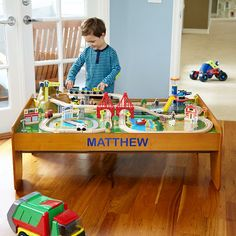 Discovery Kids Wooden Table Train Set | Overstock.com Shopping - The ...