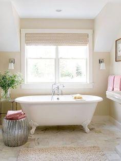 Gorgeous, minimal bathroom reno.