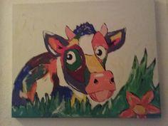 Gekleurde koe