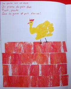 Illustration - Une poule sur un mur