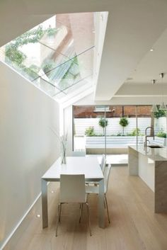Gorgeous open plan kitchen at Kimbell Gardens, SW6. The rooflights just top it all off!