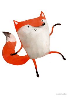 Happy Dancing Fox by colonelle - Redbubble - Available as T-Shirts & Hoodies, Stickers, iPhone Cases, Samsung Galaxy Cases, Posters, Home Decors, Tote Bags, Prints, Cards, Kids Clothes, and iPad Cases