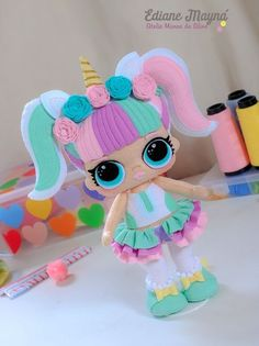 Pastel Color Unicorn Stuffed Dolls Soft Plush Toys for Kids Christmas Gift Princess Cake Toppers, Birthday Cake Toppers, Felt Crafts, Diy And Crafts, Crafts For Kids, Gold First Birthday, Unicorn Crafts, Lol Dolls, Christmas Gifts For Kids