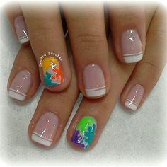 Colores Nail Designs, Nail Art, Nails, Beauty, Google, Finger Nails, Pedicures, French Tips, Fingernail Designs
