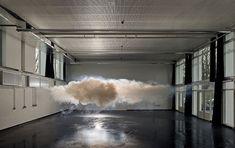 Indoor nimbus cloud by Netherlands-based artist Berndnaut Smilde.