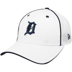 1d0bdca690a New Era Detroit Tigers White Neo 39THIRTY Flex Fit Hat (Small Medium) by