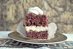 Prajitura cu crema de vanilie si ciocolata - Rețete Papa Bun Tiramisu, Cheesecake, Deserts, Ethnic Recipes, Cheesecakes, Postres, Tiramisu Cake, Dessert, Cherry Cheesecake Shooters
