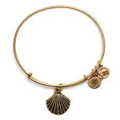 Alex and Ani Sea Shell Charm Bangle Bracelet - Rafaelian Gold Finish - Item 19278571 | REEDS Jewelers