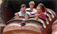 Diana loved taking her sons to amusement parks.