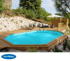 Gre Normandie Swimming Pool - Oval - 637 x 412 x 133 cm online Swimming Pools Backyard, Swimming Pool Designs, Pool Landscaping, Cheap Inground Pool, Semi Inground Pools, Piscina Diy, Backyard Pool Designs, Small Backyard Pools, Above Ground Pool Decks