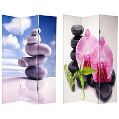 Oriental Furniture 6 ft Tall Double Sided Zen Room Divider *** Check out this great product.