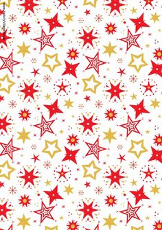 Scrapbook Patterns Free Printable | Christmas Scrapbook Paper white background with pretty red and gold ...