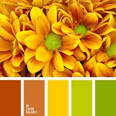 greenery, коричневый, летние цвета, насыщенный оранжевый, оттенки зеленого, оттенки оранжевого, тёмно-зелёный, теплые оттенки оранжевого, теплый желтый, цвет зелени, цвет зеленых листьев, цвета Pantone 2017.