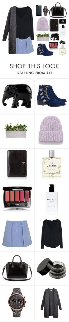 """""""grey caridgen"""" by itsmytimetoshinecoco ❤ liked on Polyvore featuring The Elephant Family, Toga, Acne Studios, Chanel, Miller Harris, H&M, Bobbi Brown Cosmetics, T By Alexander Wang, Givenchy and Uniform Wares"""