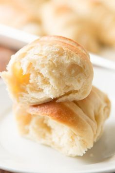 These potato rolls don't require any kneading and are hands down the best rolls you will ever have. It's a number one most requested recipe!!