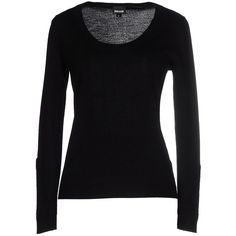 Just Cavalli Jumper ($195) ❤ liked on Polyvore featuring tops, sweaters, black, long sleeve sweater, just cavalli, lightweight sweaters, wool jumpers and just cavalli tops