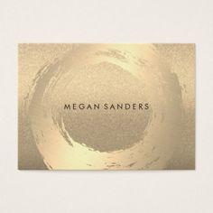 Gold Brushed / Lux Glitter Business Card - glitter glamour brilliance sparkle design idea diy elegant