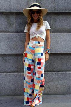 Fashion Tips What To Wear Pantalones Palazzo Verano.Fashion Tips What To Wear Pantalones Palazzo Verano Look Fashion, Womens Fashion, Simply Fashion, Ny Fashion, Fashion Hacks, Latest Fashion, Fashion Tips, Pantalon Large, Looks Street Style