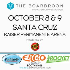 PaddleAir once again has a booth at the Boardroom International Surf Show (formerly Sacred Craft). This Fall's event is at the Kaiser Permanente Arena in Santa Cruz, California. Stop by PaddleAir booth #605 and check out the latest Ergo and the new Rib Rocket and meet the PaddleAir team.