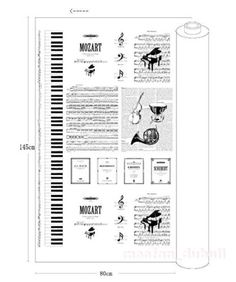 SHEET MUSIC Fabric by the Yard, Fat Quarter MUSIC Notes