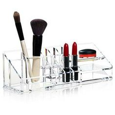 Acquista on-line Clear make-up organiser By nomess copenhagen, contenitore in acrilico, Collezione clear Clear Makeup Organizer, Make Up Organizer, Make Up Storage, Makeup Organization, Makeup Box, Makeup Tools, Eye Makeup, Clear Plates, Lampe Gras