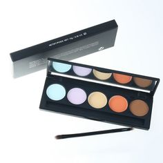 Professional 5 Colours Concealer Makeup Palette with Mirror and Brush #women, #men, #hats, #watches, #belts, #fashion, #style