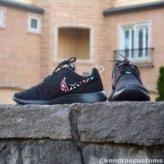 Roshe Tribal Print Custom Made to Order Womens Nike Rosherun Shoes Hand Painted on Etsy,