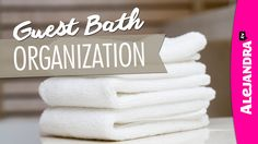 In this organization video we tour my guest bathroom & I show you how to…