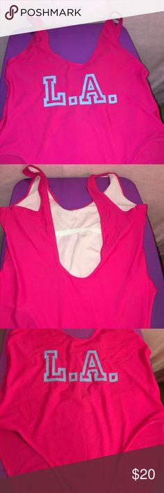 LA pink one pice swimsuit Boohoo one piece Boohoo Plus Swim One Pieces