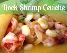 Rock Shrimp Ceviche - delicious, citrus marinated shrimp