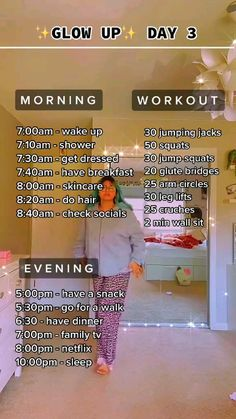 Gym Workout For Beginners, Gym Workout Tips, Fitness Workout For Women, At Home Workout Plan, Workout Videos, Workouts, Teen Life Hacks, Useful Life Hacks, Morning Routine School