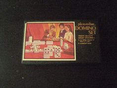 Vintage Pleasantime Dominoes Solid Opalene Set 28 Piece Double Six  | eBay