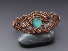 Aquamarine bracelet wire jewellery copper bracelet wire