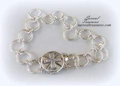 Sterling silver Chain link bracelet with a by SurrealTreasures