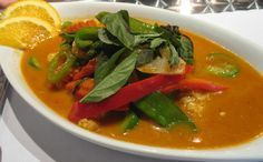 Easy Vegetarian Panang Curry Recipe. Yummy Thai food. Add chopped mango for sweet touch.