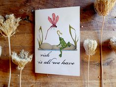 handmade illustrated notebookinspirational quote