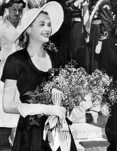 Grace Kelly's first Independence Day as Princess of Monaco. Princess Grace and Prince Rainier marked July 4, 1956 at a special mass celebrating the American Independence Day in the Cathedral of Monaco. It was their first public appearance together in Monaco since their wedding. Princess Grace accepted a bouquet of flowers decorated with ribbons of the American and Monegasque colors.