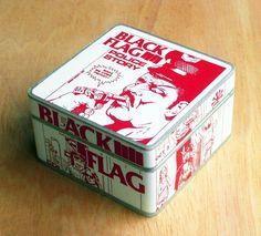 Box Black Flag. Wooden box. Jewerly box.