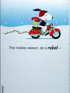 THIS CHRISTMAS BE A REBEL!