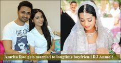 Celebrities Actress Amrita Rao Got Married to Long Time Boy Friend RJ Anmol