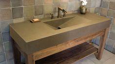 Concrete Bath Room Vanities, Concrete Sinks, Concrete Countertops, See Photos
